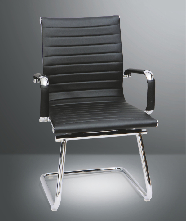 cp sleek vc leather medium back office chair office chairs