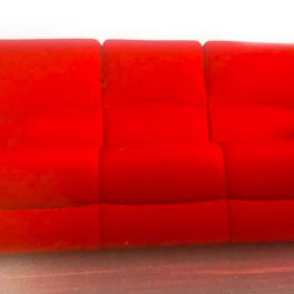 red colour sofa