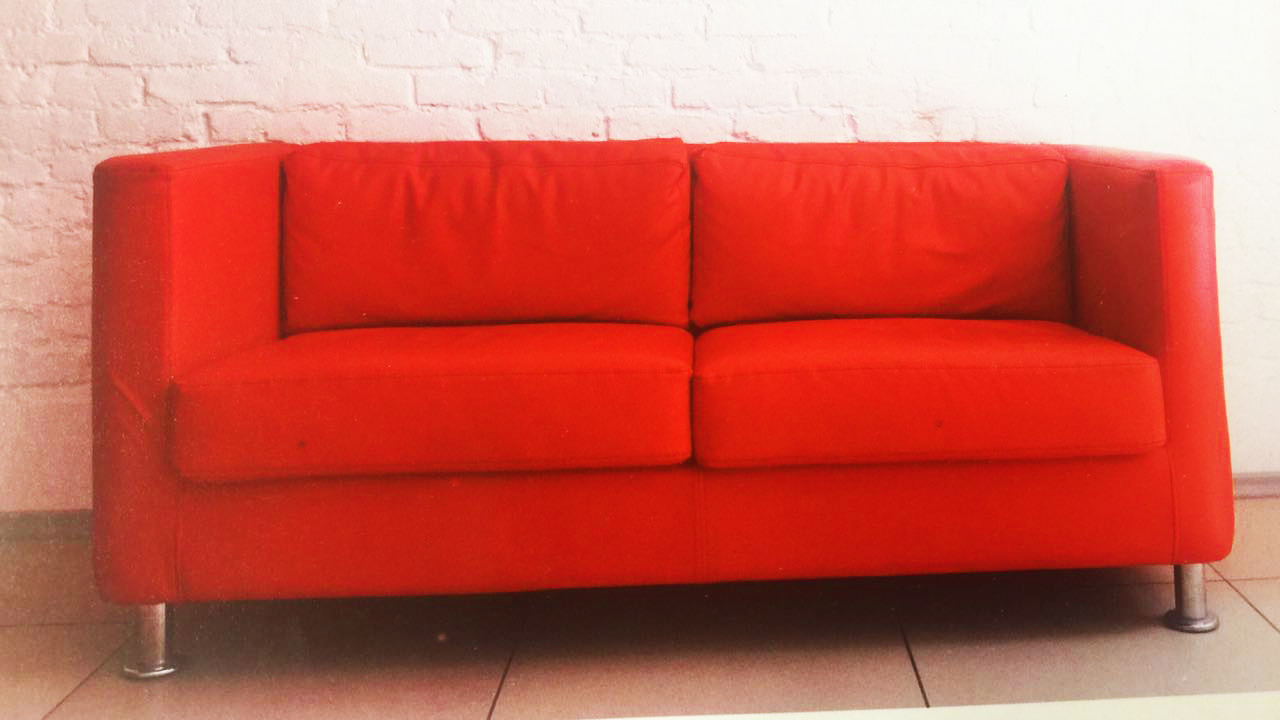 2/3 Seater Sofa with Super Soft Foam in Seat and Back Cushion – Red ...