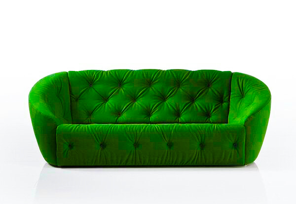 Superieur 2/3 Seater Sofa With Hard Or Soft Foam In Seat And Back Cushion With Curved  Handles U2013 Green Colour