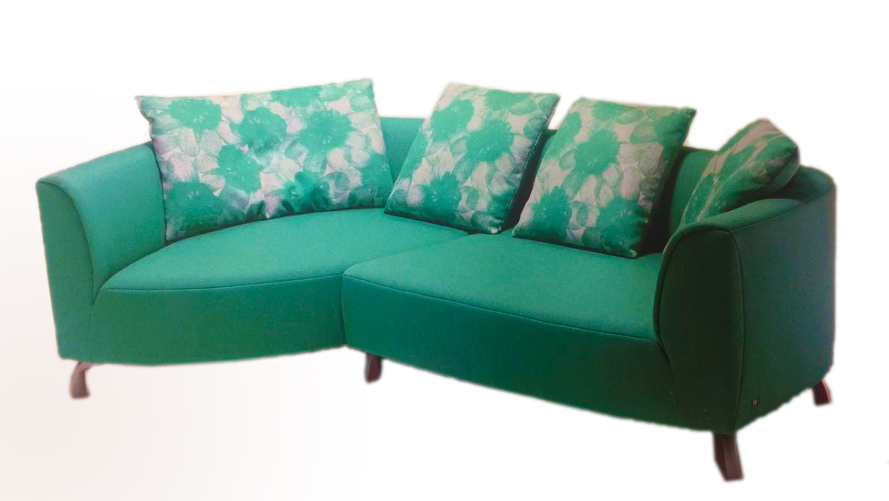 Merveilleux 3 Seater Fabric Sofa With Hard Foam In Seat And Back Cushion U2013 Green Colour