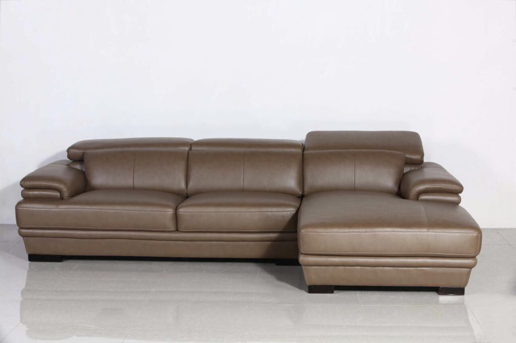 L type sofa leather