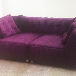 two seat sofa purple