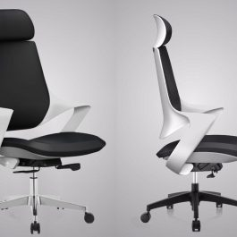 steel high back chair